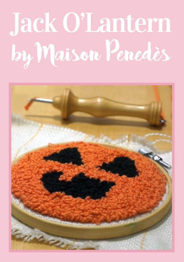 free punch needle pattern halloween
