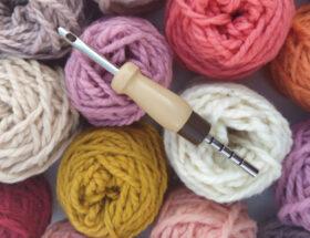 lana merino para punch needle